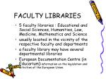 faculty libraries