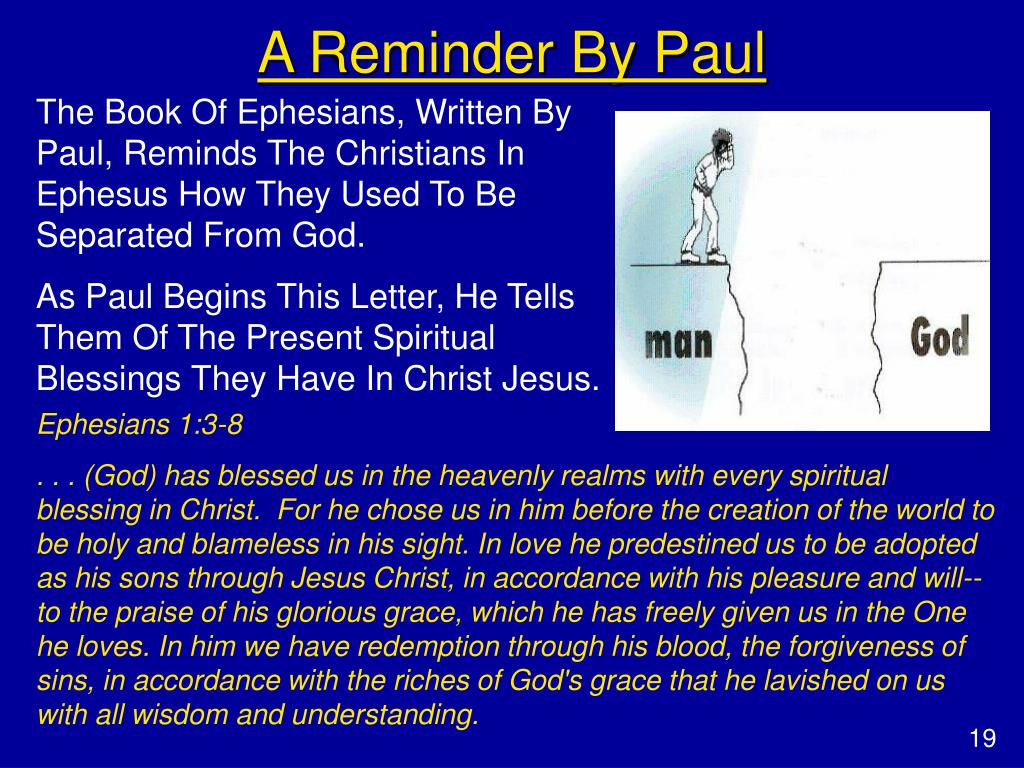 A Reminder By Paul