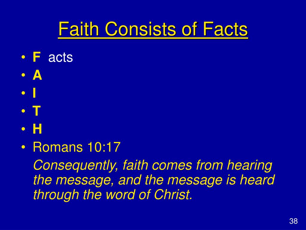 Faith Consists of Facts