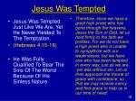 jesus was tempted