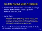 sin has always been a problem