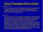 some passages about grace