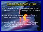 the consequence of sin