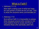 what is faith