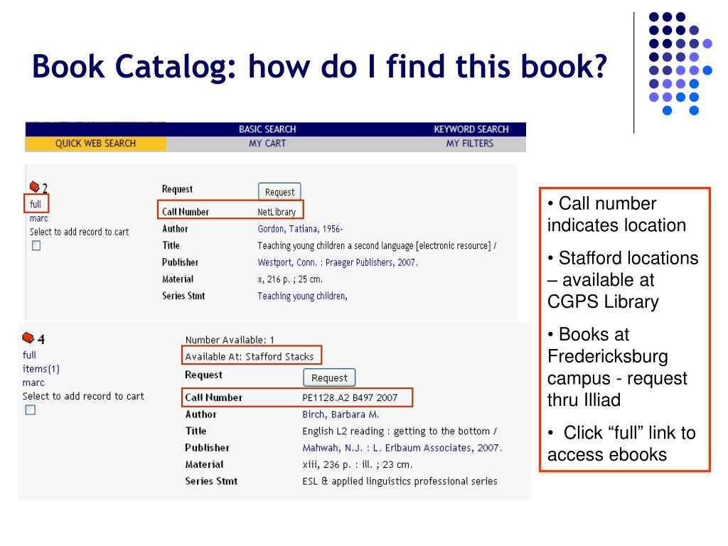 Book Catalog: how do I find this book?