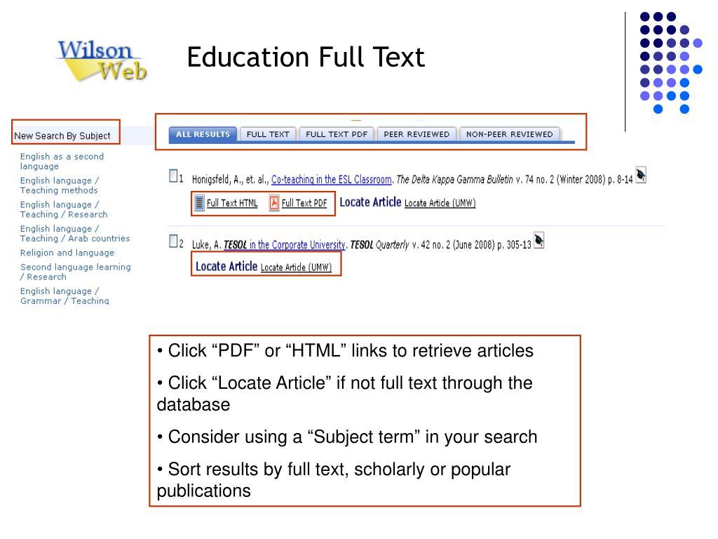 Education Full Text