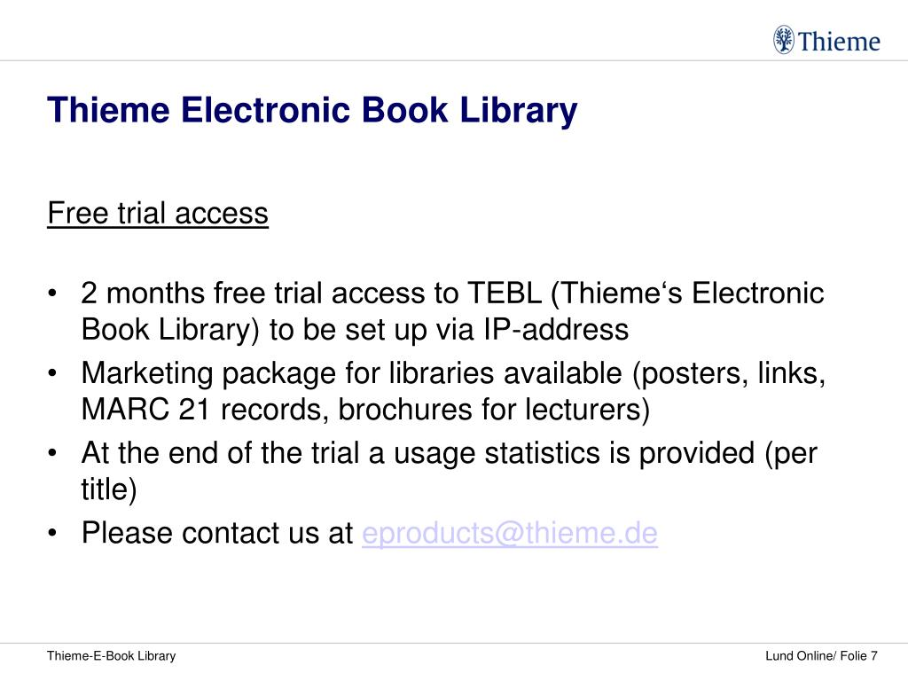 Thieme Electronic Book Library
