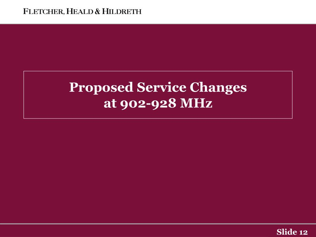 Proposed Service Changes