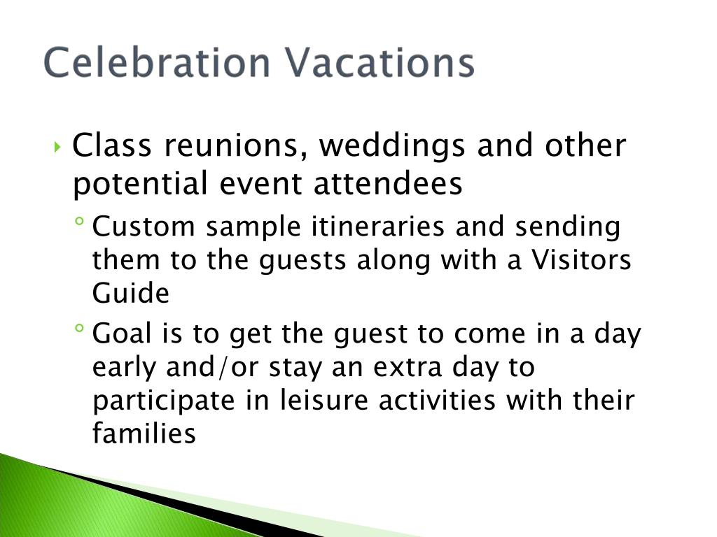 Class reunions, weddings and other potential event attendees