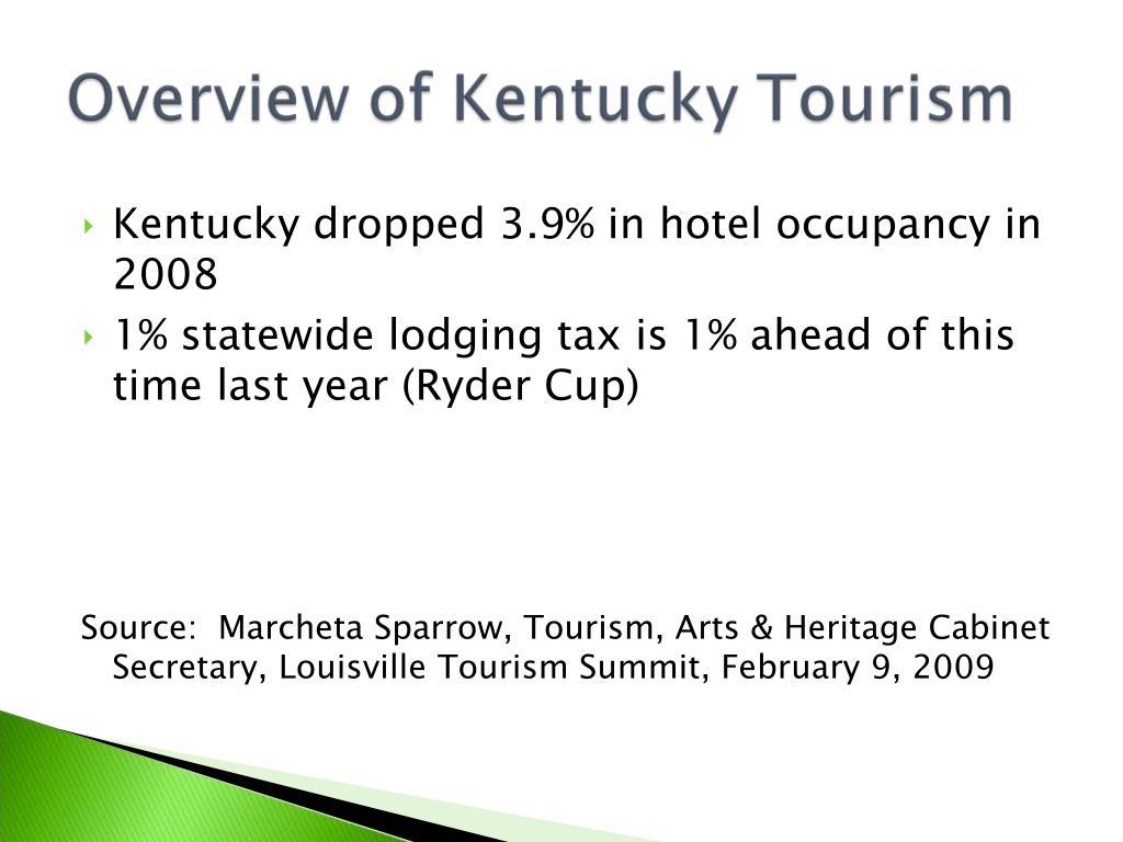 Kentucky dropped 3.9% in hotel occupancy in 2008