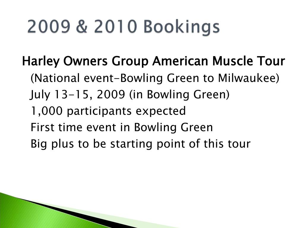 Harley Owners Group American Muscle Tour