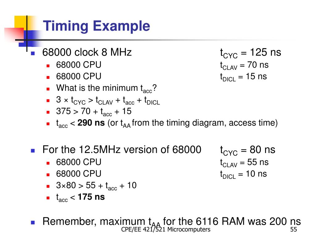 Timing Example