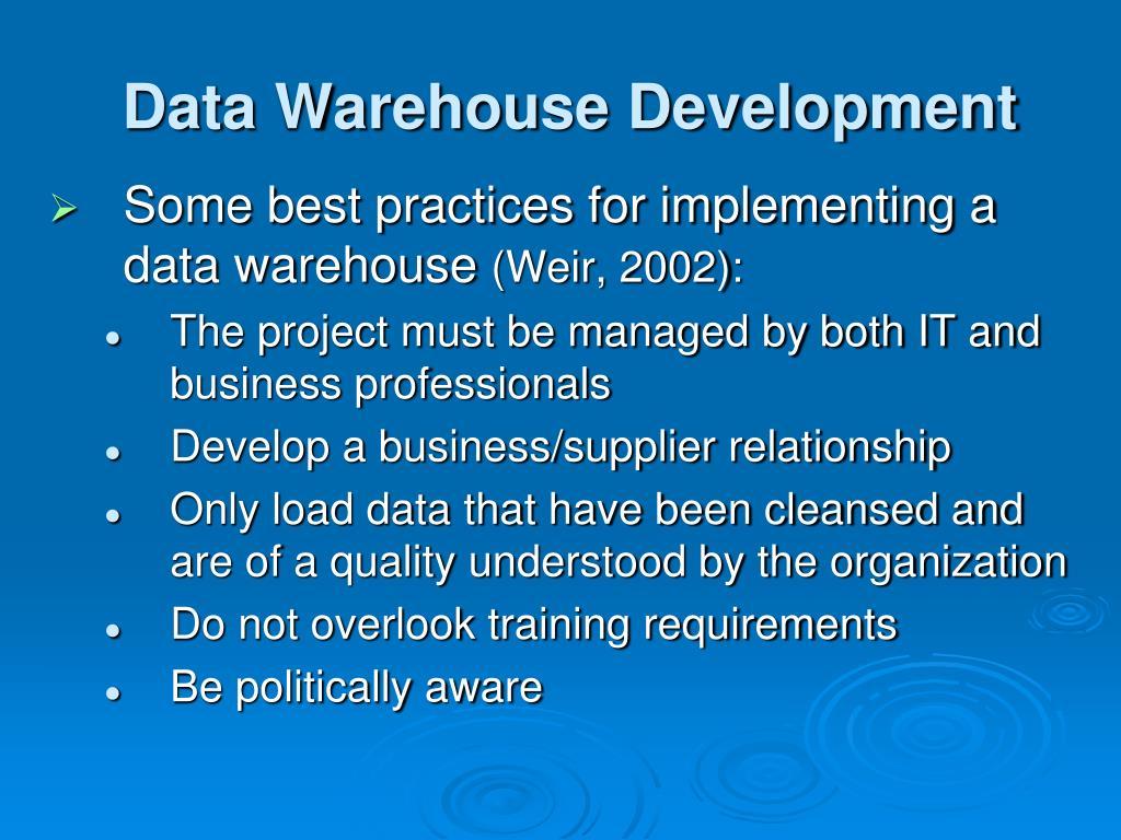 Sample resume for data warehouse developer