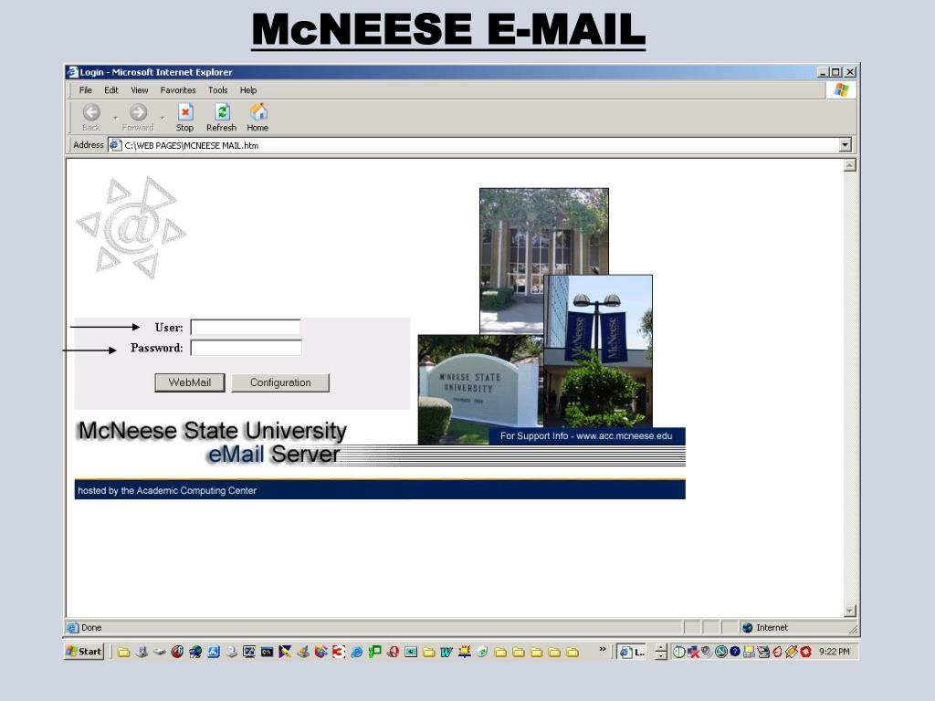 McNEESE E-MAIL