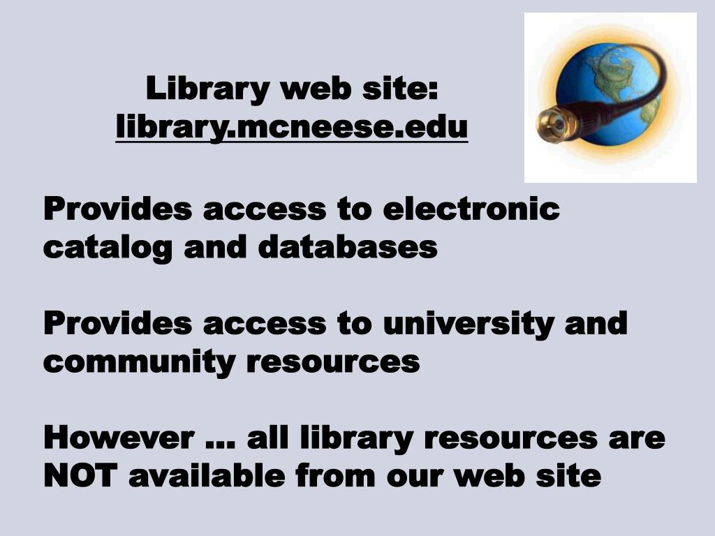 Library web site: