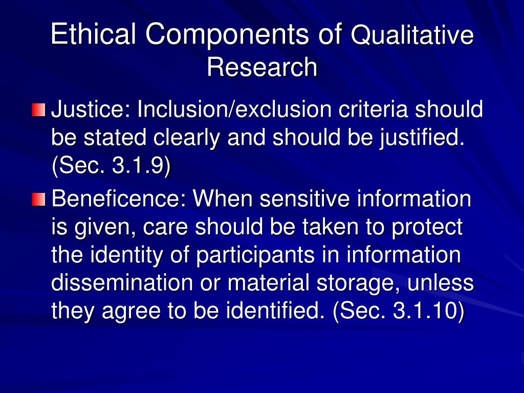 components of a qualitative research paper