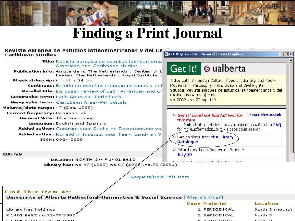 Finding a Print Journal
