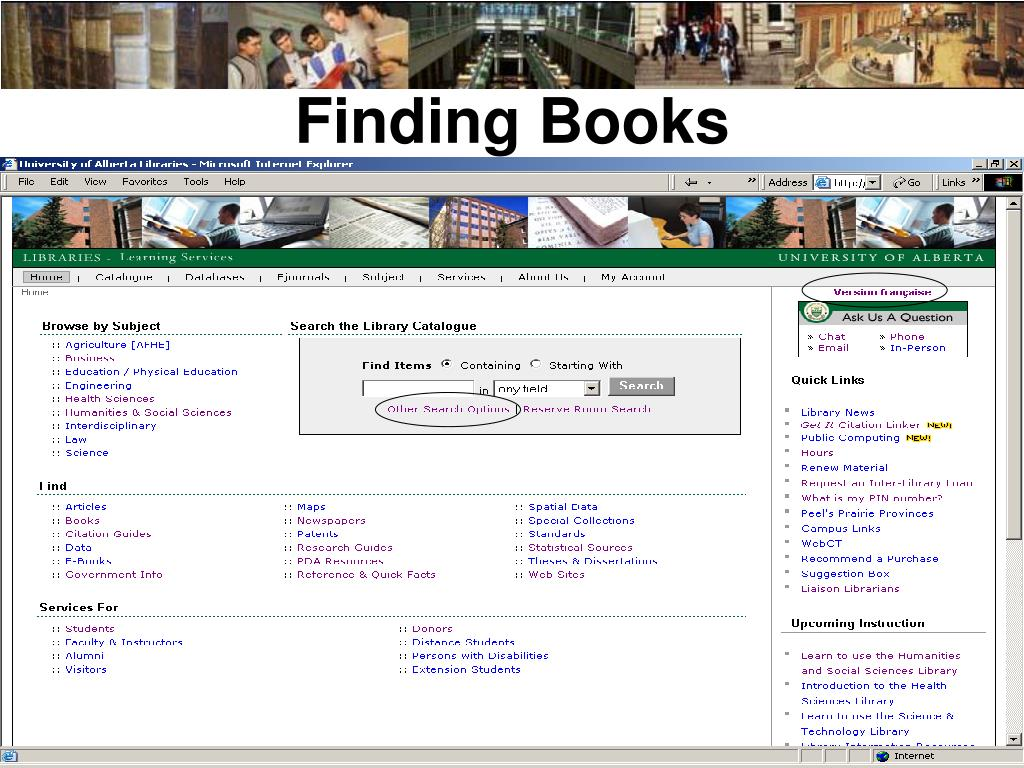 Finding Books