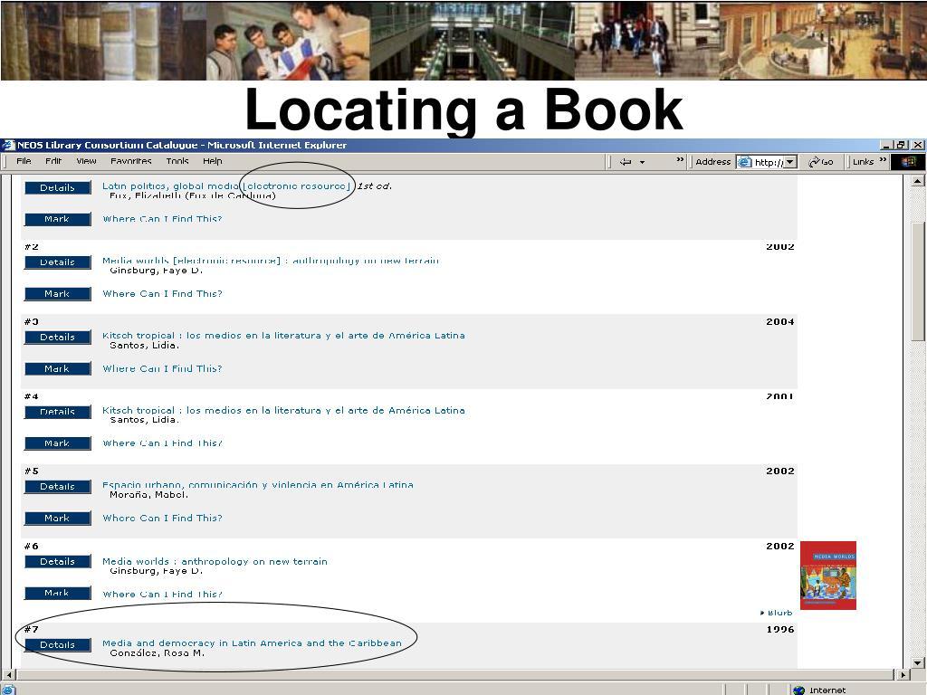 Locating a Book