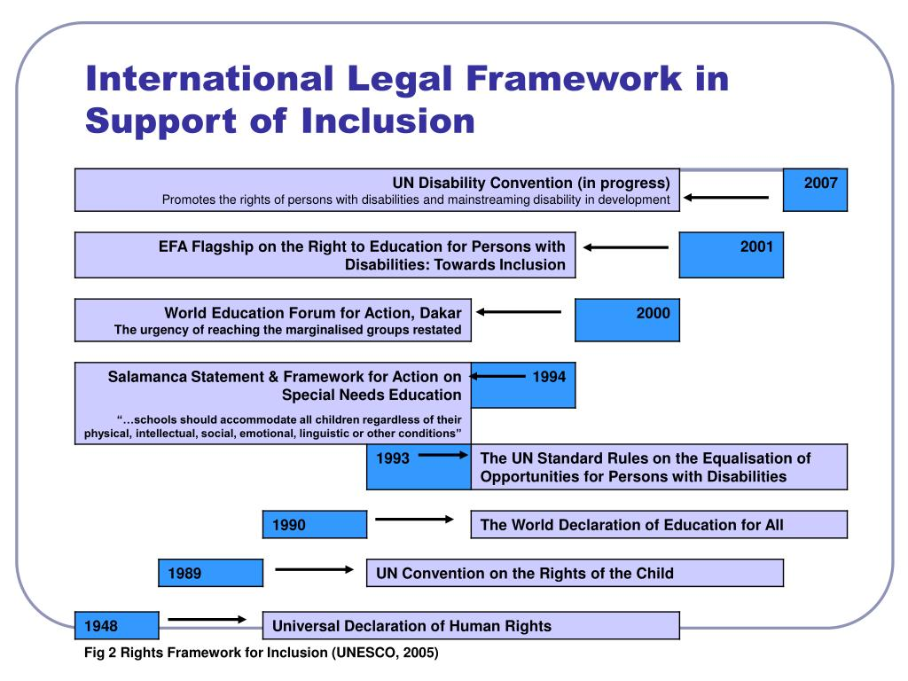 International Legal Framework in Support of Inclusion