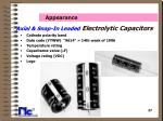 axial snap in leaded electrolytic capacitors