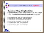 component characteristics substitution guide capacitors20