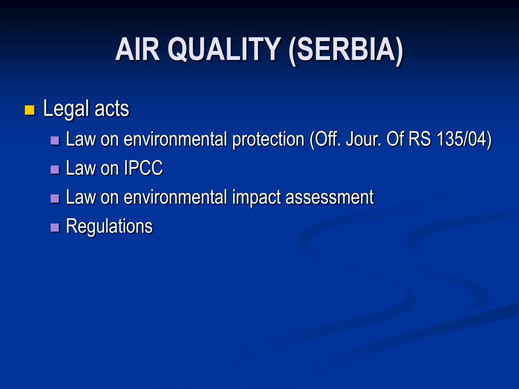 AIR QUALITY (SERBIA)