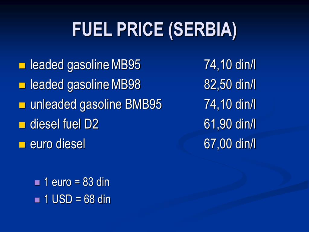 FUEL PRICE (SERBIA)