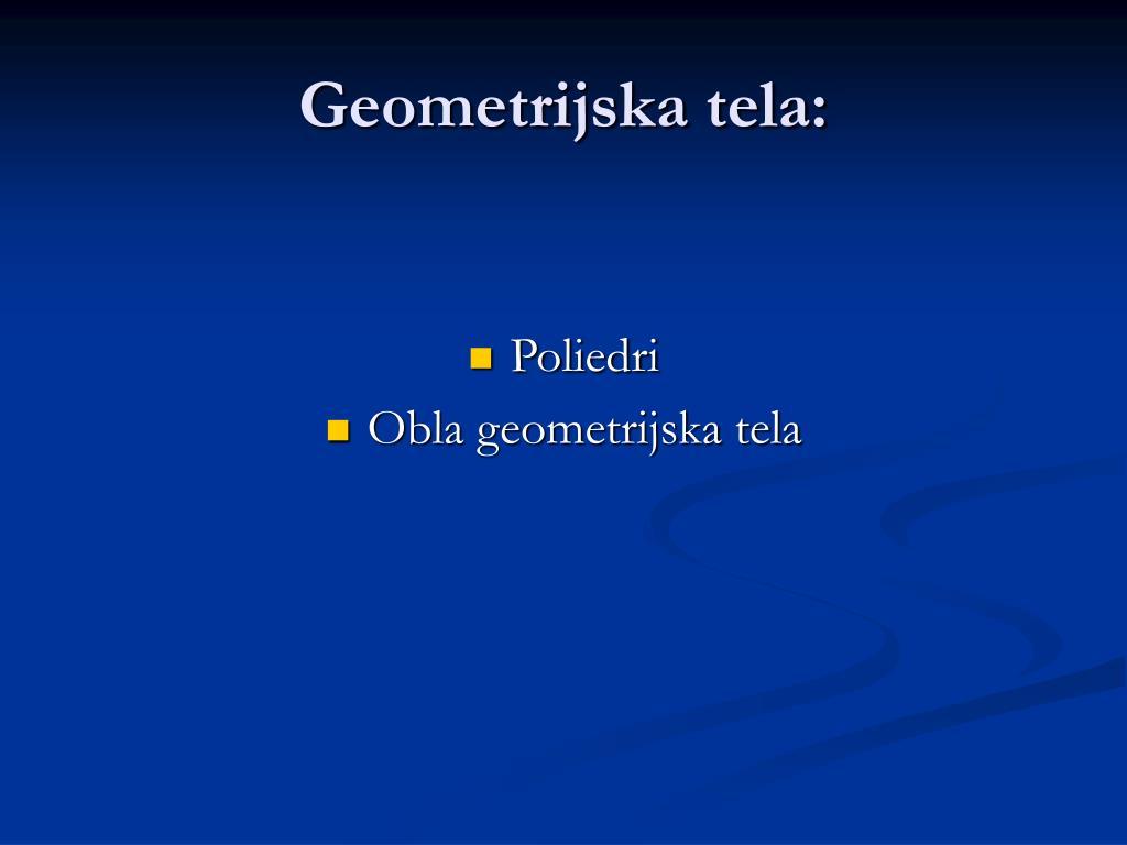 Geometrijska tela: