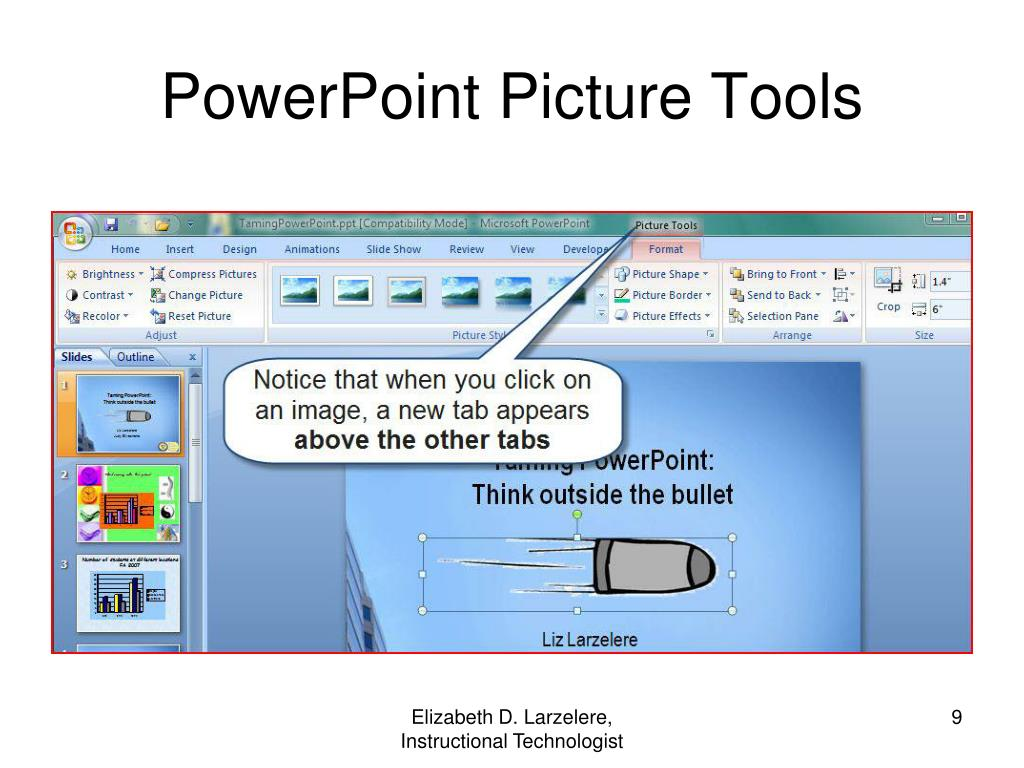 PowerPoint Picture Tools