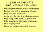 some of the ways mrs keesing can help