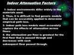 indoor attenuation factors