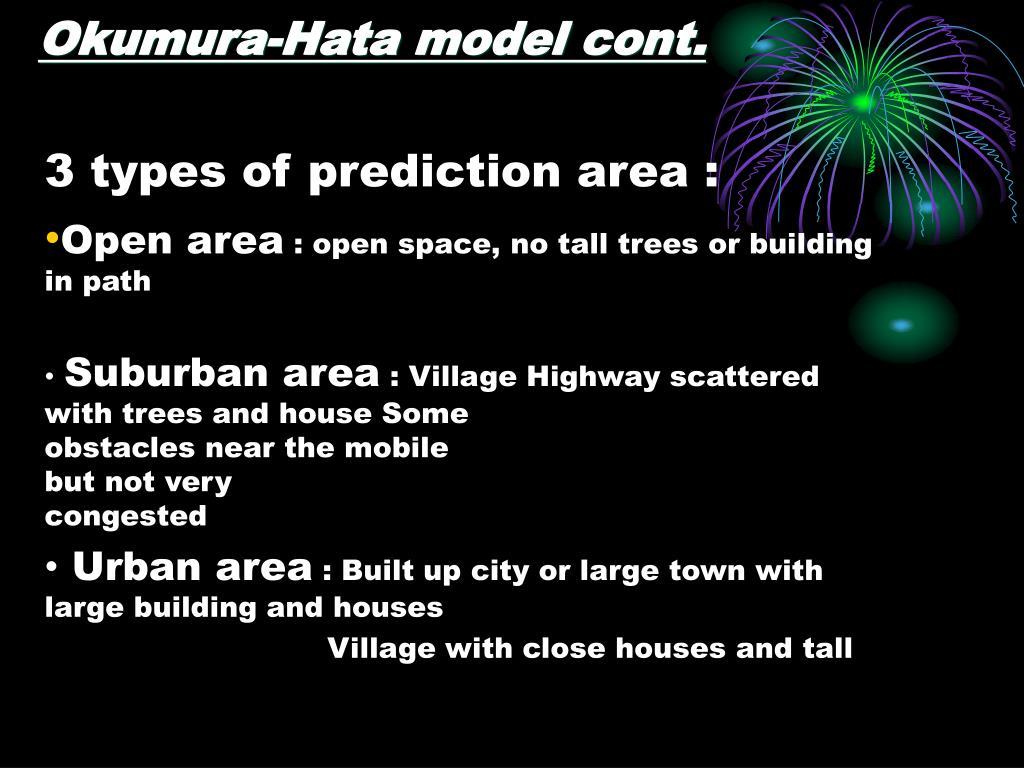 Okumura-Hata model cont.