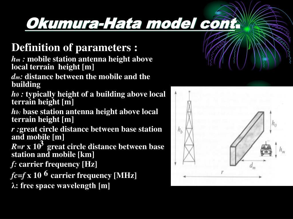 Okumura-Hata model cont