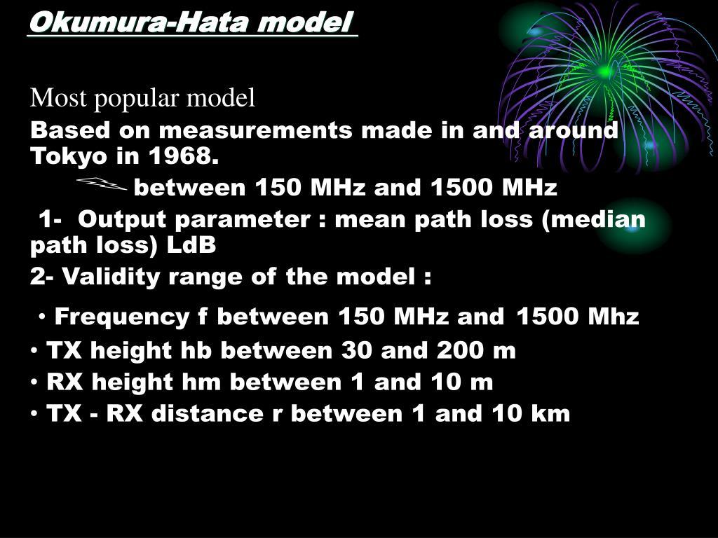 Okumura-Hata model