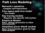 path loss modeling
