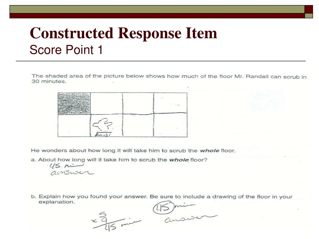 Constructed Response Item