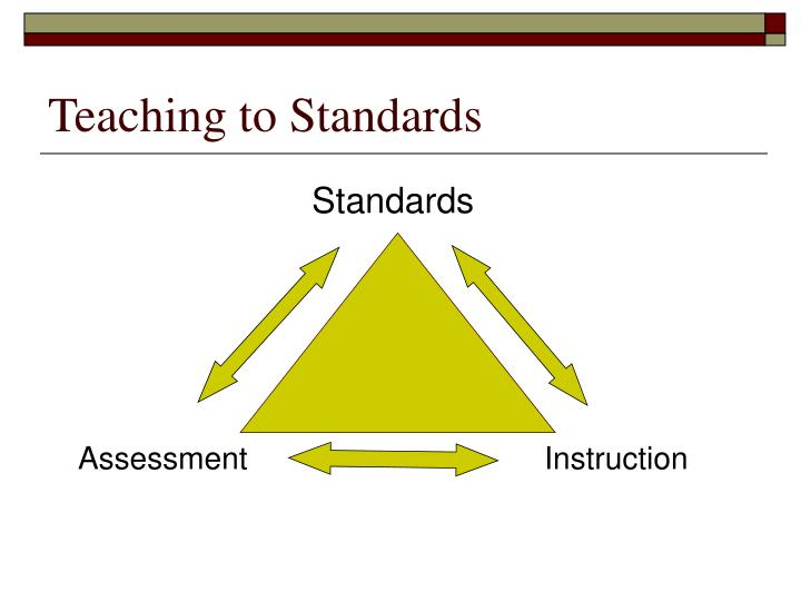 Teaching to standards