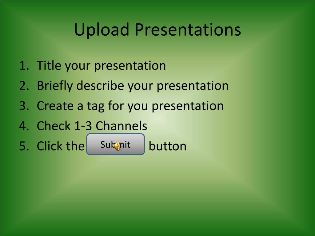 Upload Presentations