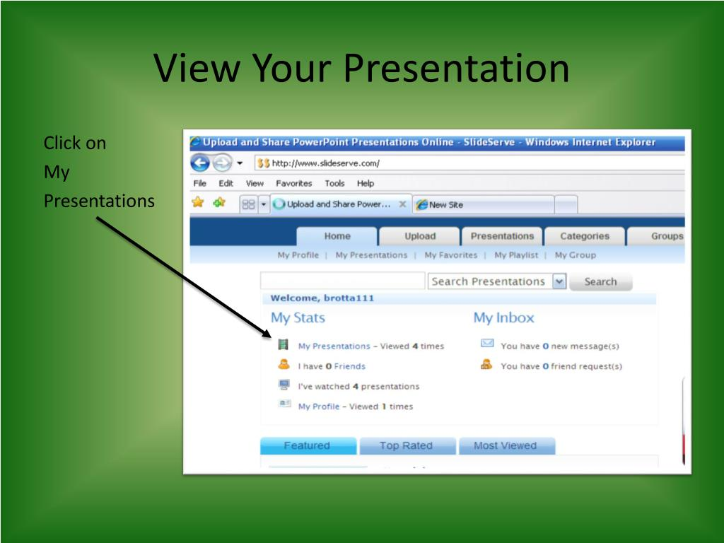 View Your Presentation