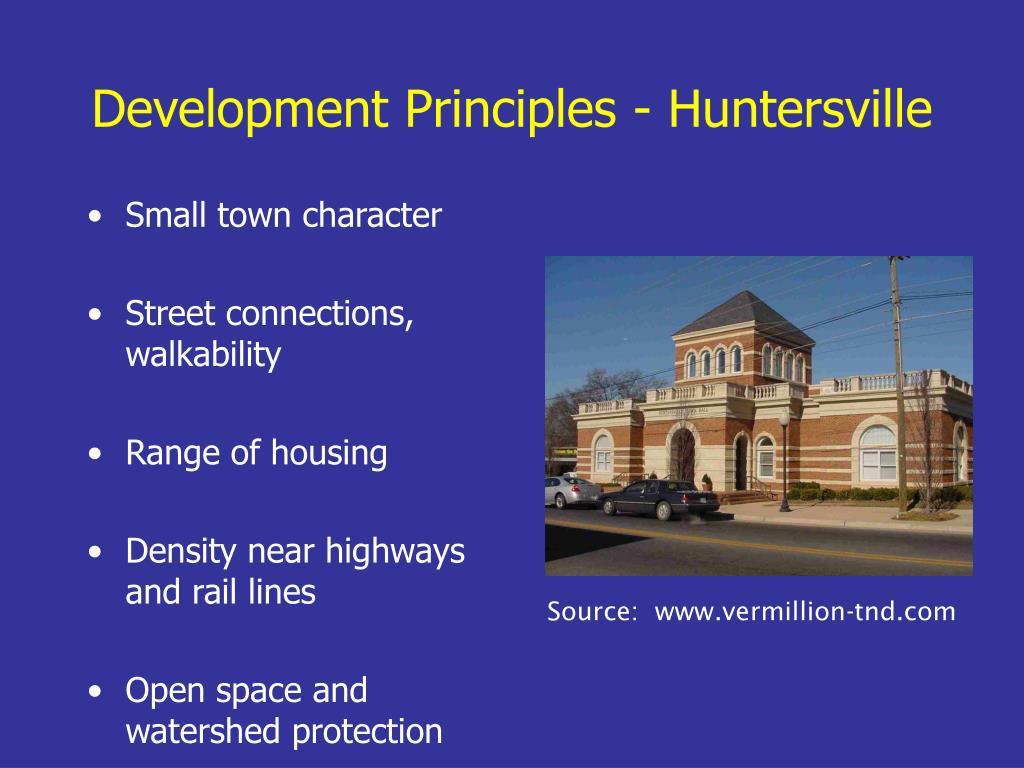 Development Principles - Huntersville