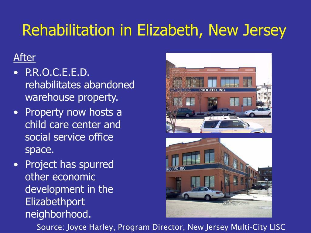 Rehabilitation in Elizabeth, New Jersey