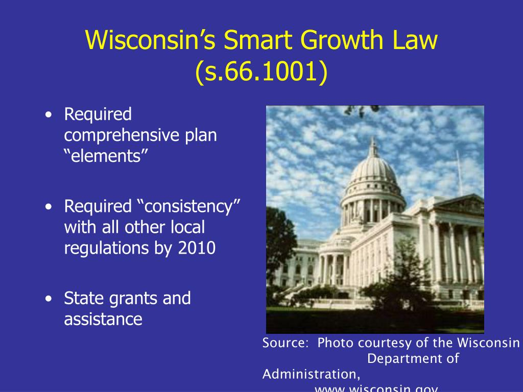 Wisconsin's Smart Growth Law (s.66.1001)
