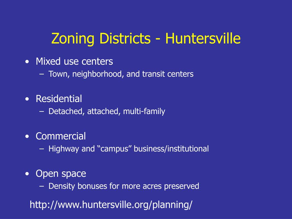 Zoning Districts - Huntersville