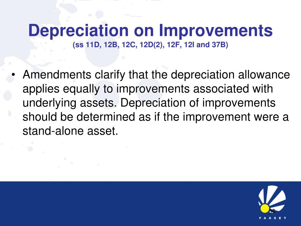 Depreciation on Improvements