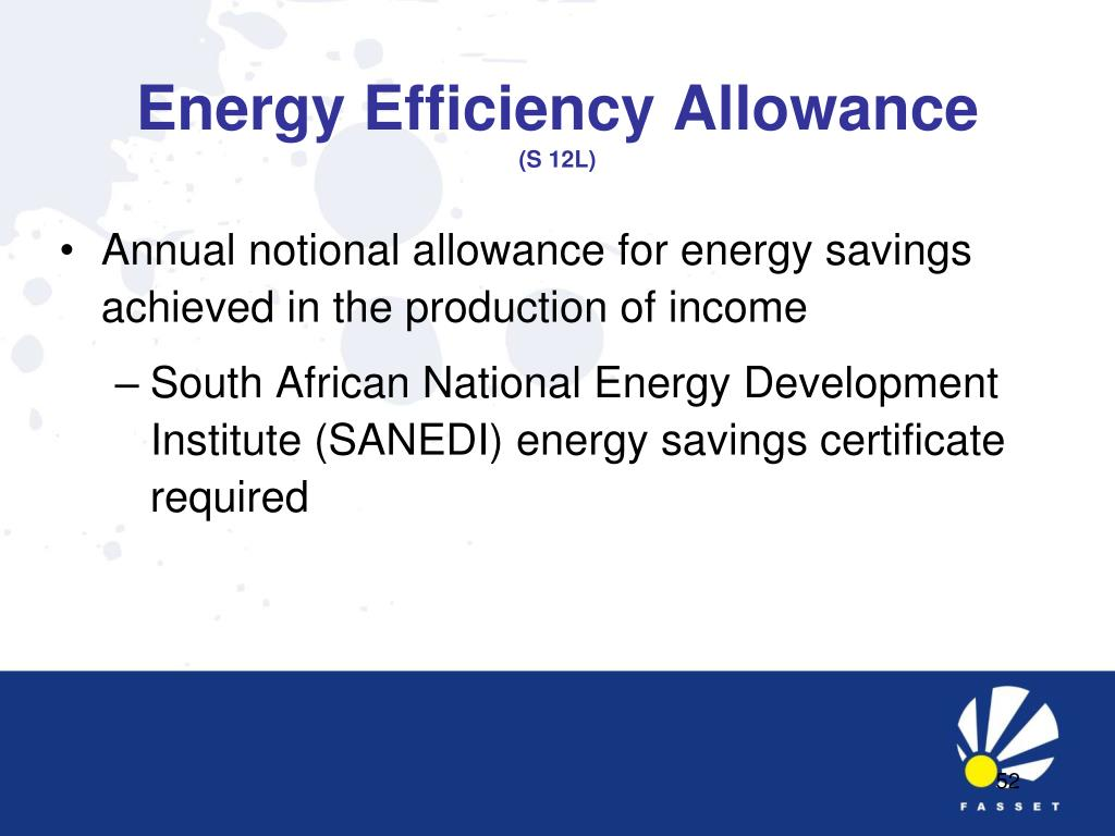 Energy Efficiency Allowance