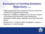exemption of certified emission reductions s 12k