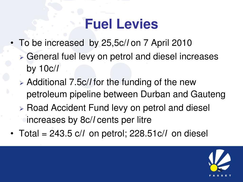 Fuel Levies