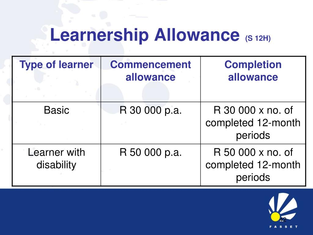 Learnership Allowance