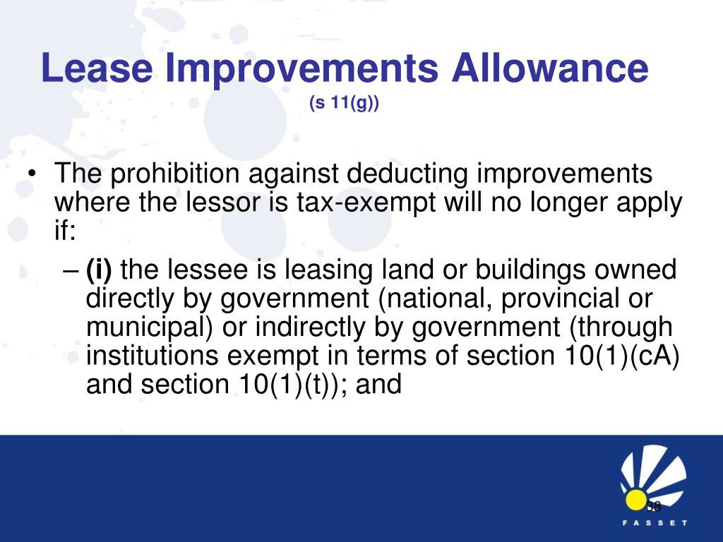 Lease Improvements Allowance